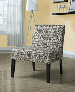 Monarch Specialties Textured Brick Fabric Accent Chair, Beige/Olive Green