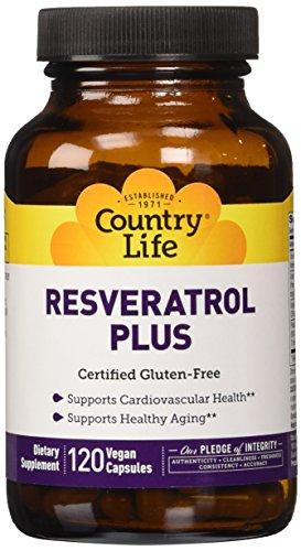 Country Life Resveratrol Plus , 120-Count