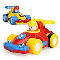 D-Mcark Mini Pull Back Racing Cars Toys for Toddlers Pull and Go Car Gift for Babies Kids Boys 2 Pcs