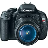 51jGuISLz8L. SL160  Canon EOS Rebel T3i 18 MP CMOS APS C Sensor DIGIC 4 Image Processor Full HD Movie Mode Digital SLR Camera with 3.0 Inch Clear View Vari Angle LCD and EF S 18 55mm f/3.5 5.6 IS Lens