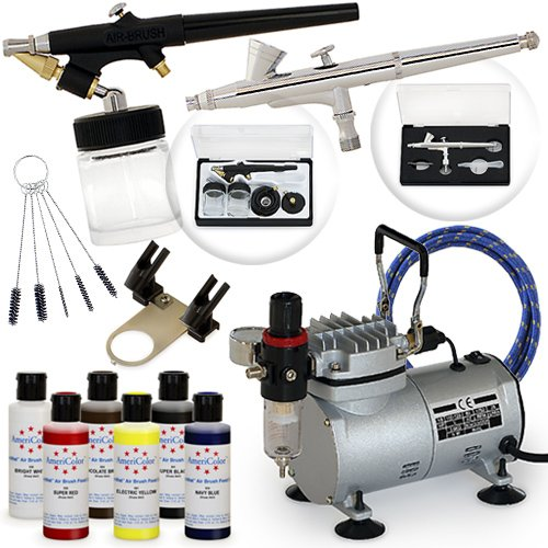 Complete Airbrush Cake Decorating Set - 6 AmeriMist Colors