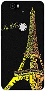 The Racoon Grip Love in Paris hard plastic printed back case / cover for Huawei Nexus 6P