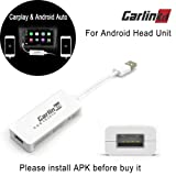 Carlinkit USB Car Play Dongle Electronics Cable Connector (HW01-01), White (Color: White)