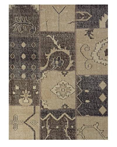 Meva Rugs Medallion Hand-Knotted Rug, Chocolate, 5′ x 8′