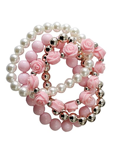 Young & Forever Pastel Pink Summer Beads Sunshine Magic Bracelet For Women by CrazeeMania