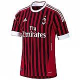 adidas, Maglia da calcio AC Milan 2011/2012 380100000111, Nero (schwarz/rot), L
