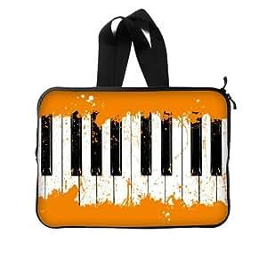 "Amazon.com: 10"" Inch - Stylish Orange Graffiti Black And White Piano"