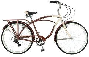 Schwinn Men's Sanctuary 7-Speed Cruiser Bicycle (26-Inch Wheels), Cream/Copper, 18 -Inch