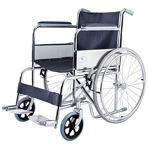 """Giantex 24"""" Lightweight Foldable Folding Wheelchair w/Swingaway Footrest FDA Certificate"""
