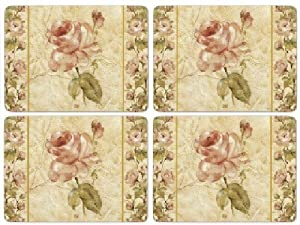 Pimpernel Antique Rose Linen Placemats - Set of 4 (Large)