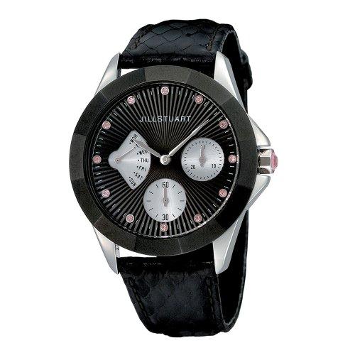 Jill Stuart Women's SILDE003 Retrograde Collection Leather Strap Watch