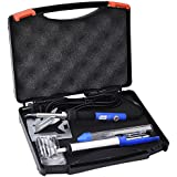 Mudder 6-in-1 Electronic Soldering Kit with Tool Box including Blue 60W Adjustable Temperature Soldering Iron, Solder Sucker, Solder, Stand and Tips