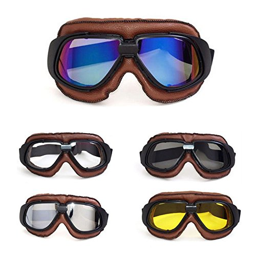 league co lunettes de moto motorcross solieil pilot sports vintage goggles cadre noir anti uv en. Black Bedroom Furniture Sets. Home Design Ideas