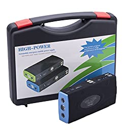 Portable Power Bank and Car Jump Starter /High Quality Newest Car Jump Starter 26800mAh Multi-Function Power Bank Battery Charger Booster Mobile Phone Laptop (BLUE)