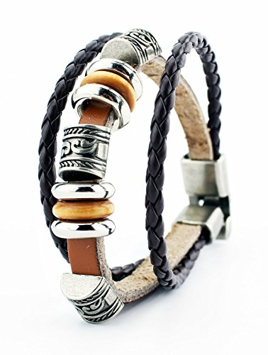 Belletas Vintage Style Multi-strand Beads Strands Unisex Fashion Leather Wrap Bracelet