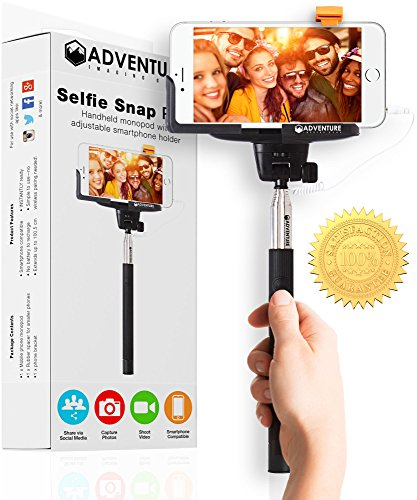 "Lowest Prices! *ON SALE TODAY* - Android and iPhone Selfie Stick - Adventure Imaging Gear® ""Be..."