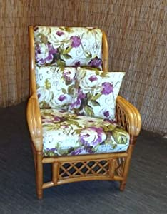 Replacement Cushion Covers for Cane Wicker and Rattan Conservatory and Garden Furniture - Lilac Rose by Zippy UK