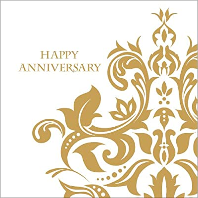 Golden Anniversary 3-Ply Lunch Napkins 36 Per Pack