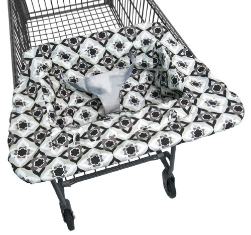 Jj Cole Shopping Cart Cover, Black Magnolia