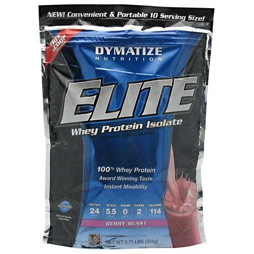 Dymatize Nutrition Whey Elite Shake, Berry, 10 Count