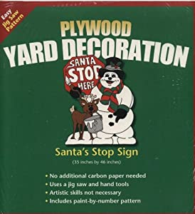 Plywood Christmas Yard Decoration Patterns