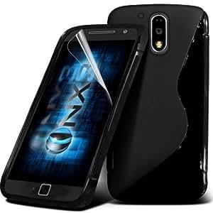 Smart Choice Anti-skid Soft TPU Back Case Cover for Motorola Moto G4 (Black)