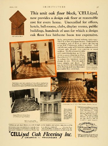 1929 Ad CELLized Oak Wood Flooring Home Improvement Dallas Athletic Club Floors - Original Print Ad