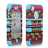 3 in 1 Combo Tribal Tribe Pattern Hybrid Hard Case Cover For iphone 4 4S