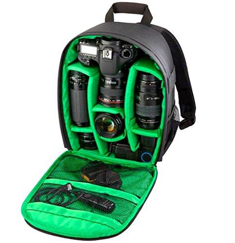 TIGERNU Sport backpack 多機能 リュックサック backpack bag 男女兼用 カップルバッグ couple bag 旅行 一眼レフカメラバック 一眼レフカメラリュックサック カメラバッグ リュック カメラバッグ 一眼レフ おしゃれ(内装飾グリーン)  13インチ