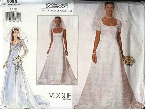 vogue-sewing-pattern-2085-misses-size-6-8-10-bellville-sassoon-wedding-gown-bridal-gown-dress