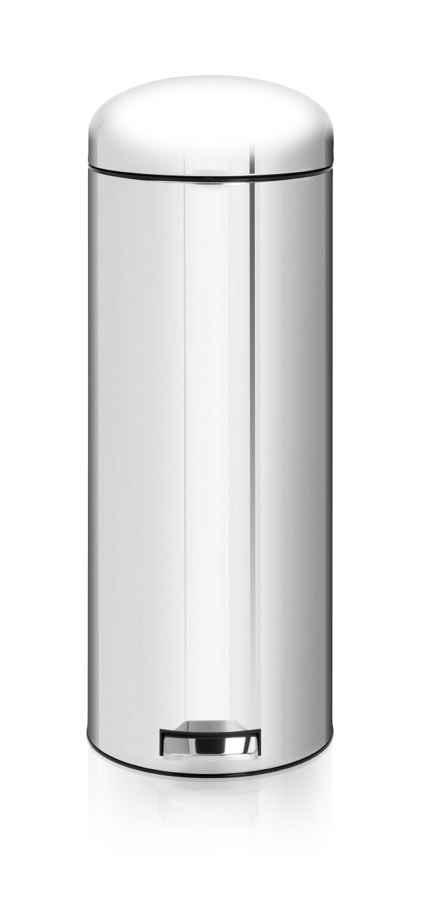 Brabantia Retro Bin 20 Litre with Plastic Inner Bucket   Brilliant Steel       review and more info