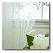 Beautiful Jacquard Sheer Lace Curtain Pair