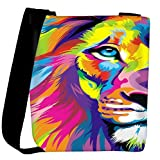 Snoogg Lion paint Womens Carry Around Cross Body Tote Handbag Sling Bags