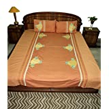 Amita's Home Furnishing Multi Color Embroided & Patch Work Bed Linen
