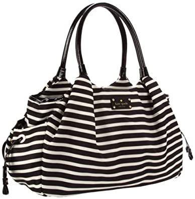 Kate Spade New York Kate Spade Nylon Stevie Baby Bag Diaper Bag,Black/Cream,One Size