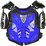 Fly Racing Convertible II Youth Boys Roost Deflector Off-Road/Dirt Bike Motorcycle Body Armor - Blue / Mini