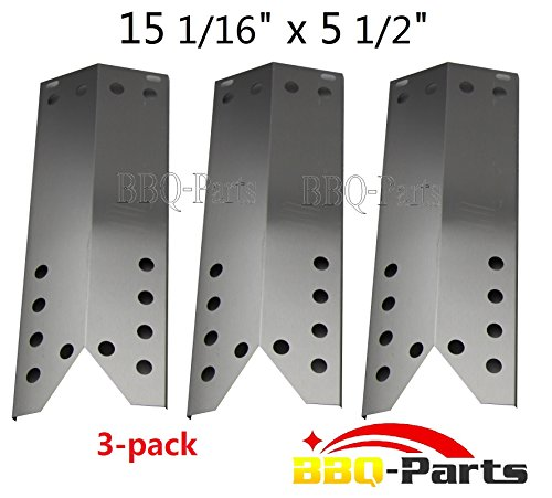 """96781 (3-Pack) Stainless Steel Heat Plate Replacement For For Kenmore Sears, Nexgrill, Sunbeam Grillmaster, Lowes Model Grills (15 1/16"""" X 5 1/2"""")"""