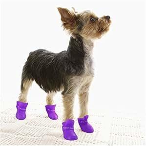 Amazon.com : Pet Dog Cat Rain Snow Boots Shoes Booties