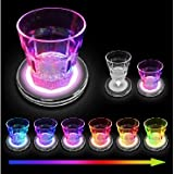 LED Colour Changing Drinks Coasters Set of 4