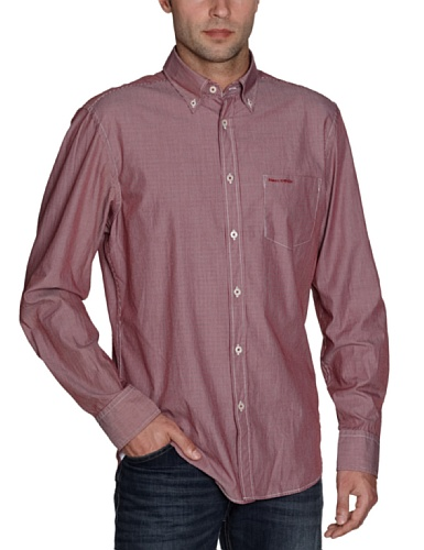 Marc O'Polo Men's 227 1022 42124 Casual Shirt Red (355 Rust) 48/50