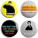 FRIENDS TV Moments - Badges (Set Of 4)