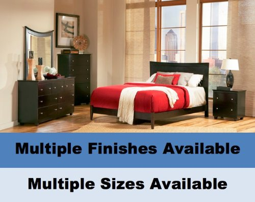 Atlantic Furniture Miami Platform Bed with Open Footrail Platform Bed