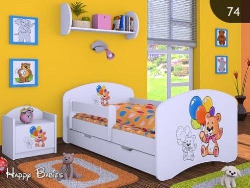 """Kinderbett """" BÄREN """" mit Matratze und Bettkasten 140/70 cm – NEU"""