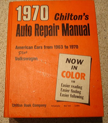 1970 Chilton's Auto Repair Mnual for Cars From 1963 to 1970 (1970 Dodge Challenger Chilton compare prices)