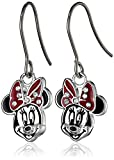 Disney Minnie Fine Silver Plated Enamel Earrings