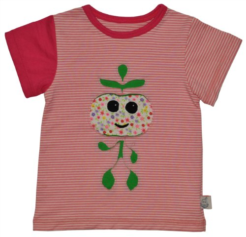 Baby Girl Striped Apple T-shirt Pink 6-12M