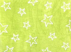 Aratextil. Alfombra Infantil 100% Algodón lavable en lavadora ColecciónEstrella pistacho 120x160 cms