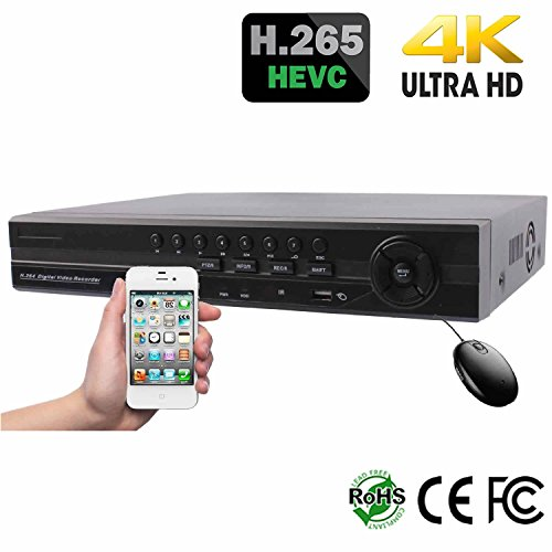 HDView H 265 8 Channel HD Megapixel NVR, 8 Channel PoE Ports, 4K HDMI, Up  To 5MP IP Camera, ONVIF Profile S Compatible, Commercial Grade