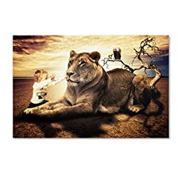 Trademark Fine Art Lionheart Artwork by Erik Brede, 12 by 19-Inch