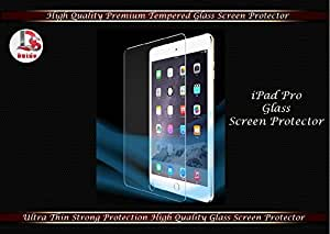 DSOutdo® I Pad Pro High Quality Premium Tempered glass Screen Protector 9H Hardness, Anti scratch, Anti Explosion, Ultra Clear Screen Guard, Shatterproof, Anti-Scratch, Bubble-free, Oleo phobic Coating, 2.5D Round Edge, 0.33mm Thickness
